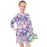 Sketchlines01 Kids  Quarter Sleeve Shirt Dress