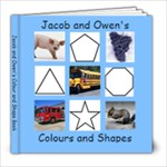 Jacob and Owen s Colour and Shape Book - 8x8 Photo Book (20 pages)