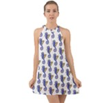 Seahorse Halter Tie Back Chiffon Dress Sharon Tatem Fashion