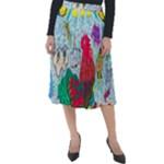 Supersonic Key West Gypsy Blast Classic Velour Midi Skirt