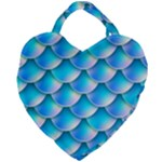 Mermaid Tail Blue Giant Heart Shaped Tote