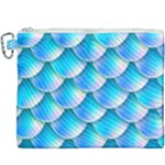 Mermaid Tail Blue Canvas Cosmetic Bag (XXXL)