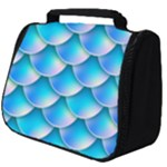 Mermaid Tail Blue Full Print Travel Pouch (Big)