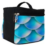 Mermaid Tail Blue Make Up Travel Bag (Small)