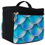 Mermaid Tail Blue Make Up Travel Bag (Big)