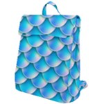 Mermaid Tail Blue Flap Top Backpack