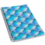 Mermaid Tail Blue 5.5  x 8.5  Notebook