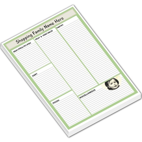 Green Shopping Memo Pad By Lillyskite