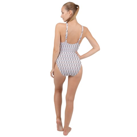High Neck One Piece Swimsuit