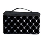 Halloween Skulls Crossbones Cosmetic Storage Case