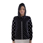 Halloween Skulls Crossbones Women s Hooded Windbreaker