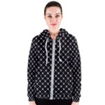 Halloween Skulls Crossbones Women s Zipper Hoodie
