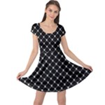 Halloween Skulls Crossbones Cap Sleeve Dress