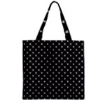 Halloween Skulls Crossbones Zipper Grocery Tote Bag