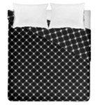 Halloween Skulls Crossbones Duvet Cover Double Side (Queen Size)