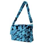 Blue Winter Tropical Floral Watercolor Full Print Messenger Bag (M)