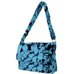 Blue Winter Tropical Floral Watercolor Full Print Messenger Bag (L)