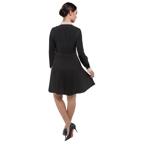 Long Sleeve Chiffon Shirt Dress