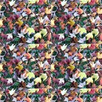 Scattered leaves by parking Close Up Fabric