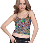 Pop Art - Spirals World 1 Spaghetti Strap Bra Top