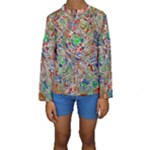 Pop Art - Spirals World 1 Kids  Long Sleeve Swimwear