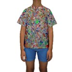 Pop Art - Spirals World 1 Kids  Short Sleeve Swimwear