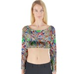 Pop Art - Spirals World 1 Long Sleeve Crop Top