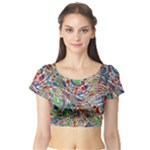 Pop Art - Spirals World 1 Short Sleeve Crop Top