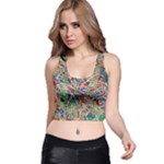 Pop Art - Spirals World 1 Racer Back Crop Top