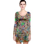 Pop Art - Spirals World 1 Long Sleeve Bodycon Dress