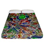 Pop Art - Spirals World 1 Fitted Sheet (King Size)