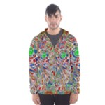 Pop Art - Spirals World 1 Men s Hooded Windbreaker