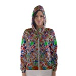 Pop Art - Spirals World 1 Women s Hooded Windbreaker