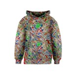 Pop Art - Spirals World 1 Kids  Pullover Hoodie