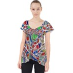 Pop Art - Spirals World 1 Lace Front Dolly Top