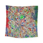 Pop Art - Spirals World 1 Square Tapestry (Small)