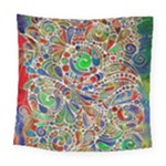 Pop Art - Spirals World 1 Square Tapestry (Large)