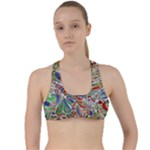Pop Art - Spirals World 1 Criss Cross Racerback Sports Bra