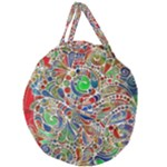 Pop Art - Spirals World 1 Giant Round Zipper Tote