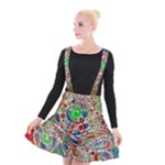 Pop Art - Spirals World 1 Suspender Skater Skirt