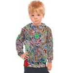 Pop Art - Spirals World 1 Kids  Hooded Pullover