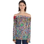 Pop Art - Spirals World 1 Off Shoulder Long Sleeve Top