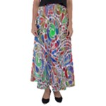 Pop Art - Spirals World 1 Flared Maxi Skirt