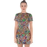 Pop Art - Spirals World 1 Drop Hem Mini Chiffon Dress