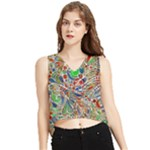 Pop Art - Spirals World 1 V-Neck Cropped Tank Top
