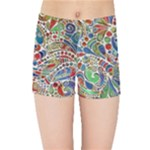Pop Art - Spirals World 1 Kids  Sports Shorts
