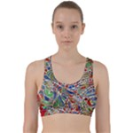 Pop Art - Spirals World 1 Back Weave Sports Bra
