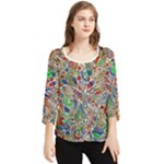 Pop Art - Spirals World 1 Chiffon Quarter Sleeve Blouse