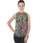 Pop Art - Spirals World 1 Mock Neck Chiffon Sleeveless Top