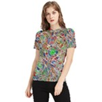 Pop Art - Spirals World 1 Women s Short Sleeve Rash Guard